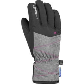 Reusch Aimée R-TEX XT Gants Adolescents, black/grey melange/pink glo